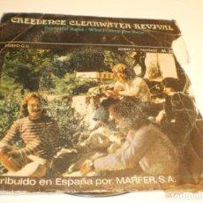 Discos de vinilo: CREEDENCE CLEARWATER REVIVAL. TRAVELIN' BAND. WHO'LL STOP DE RAIN AMÉRICA 1970 SPAIN (PROBADO, BIEN). Lote 194977123