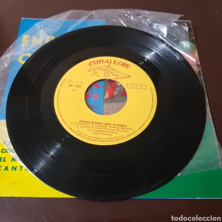 Discos de vinilo: ENRIQUE QUIJANO CANTA SUS CANCIONES - AMOR EN PRIMAVERA - CINCO MINUTOS DE AMOR - CUBALEGRE - Foto 3 - 194977206