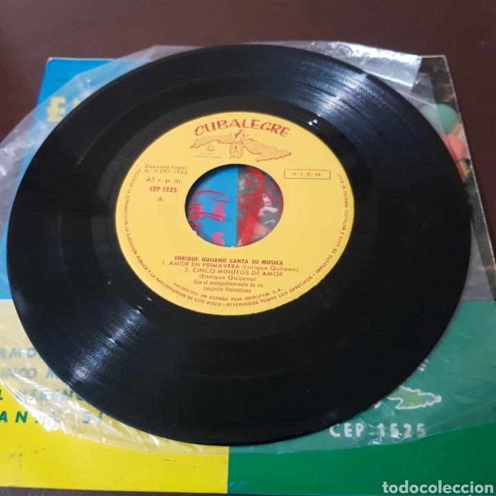 Discos de vinilo: ENRIQUE QUIJANO CANTA SUS CANCIONES - AMOR EN PRIMAVERA - CINCO MINUTOS DE AMOR - CUBALEGRE - Foto 4 - 194977206