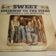 Discos de vinilo: SINGLE SWET. STAIRWAY TO THE STARS. WHAT DON'T YOU DO IT TO ME? RCA 1977 SPAIN (PROBADO, BIEN). Lote 194977223