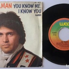 Discos de vinilo: DAN PERLMAN / YOU KNOW ME, I KNOW YOU / SINGLE 7 INCH. Lote 194980848