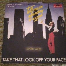 Discos de vinilo: MARTÍ WEB - TAKE THAT LOOK OFF YOUR FACE. Lote 194990963