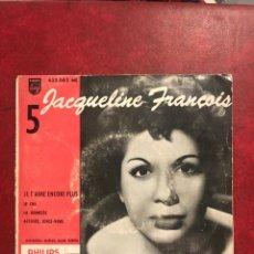 Discos de vinilo: JACQUELINE FRANCOIS SINGLE EP. Lote 194992761