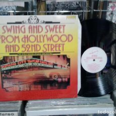 Discos de vinilo: LMV - THE HOLLYWOOD STUDIO ORCHESTRA. SWING AND SWEET FROM HOLLYWOOD AND 52ND STREET . Lote 194992902
