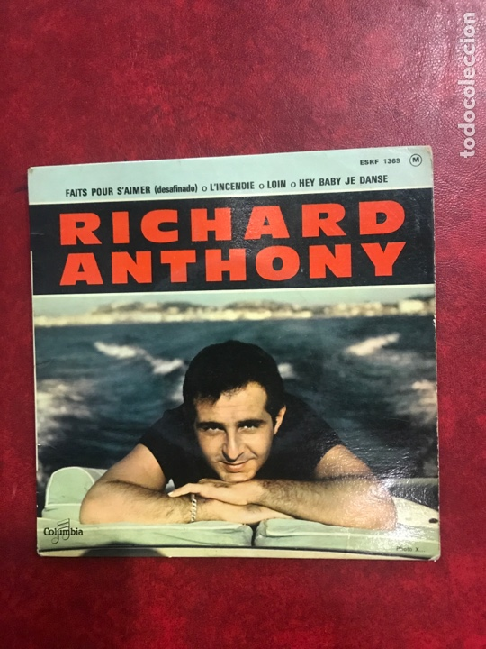 RICHARD ANTHONY SINGLE EP (Música - Discos de Vinilo - EPs - Canción Francesa e Italiana)