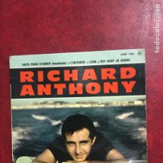 Discos de vinilo: RICHARD ANTHONY SINGLE EP. Lote 194993237