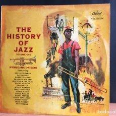 Discos de vinilo: THE HISTORY OF JAZZ VOL. 1 - N'ORLEANS ORIGINS (LP, COMP) (D:NM). Lote 194993266