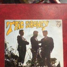 Discos de vinilo: TRIO SIBONEY SINGLE DE 1968. Lote 194993855