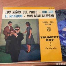 Discos de vinilo: TRUMPET BOY (LOS NIÑOS DEL PIREO +3) EP ESPAÑA 1960 (EPI15). Lote 194995130