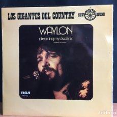 Discos de vinilo: WAYLON JENNINGS - DREAMING MY DREAMS (LP, ALBUM) (RCA) APL1-1062 (D:NM). Lote 194996730