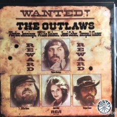 Discos de vinilo: WAYLON JENNINGS, WILLIE NELSON, JESSI COLTER, TOMPALL GLASER - WANTED! THE OUTLAWS (D:NM). Lote 194997367
