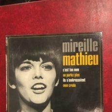 Discos de vinilo: MIREILLE MATHIEU SINGLE EP. Lote 195001416