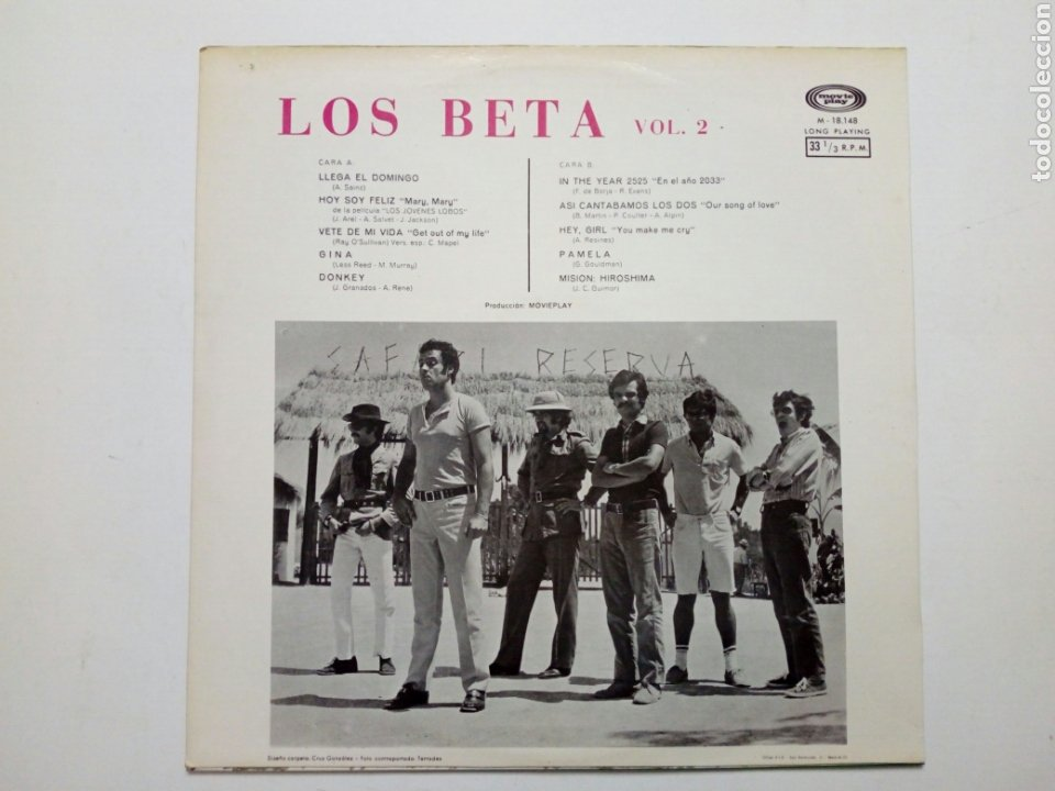 Discos de vinilo: LP: LOS BETA - Vol. 2 (Movieplay, 1970) - 60s Spanish Rock Soul Pop Beat Fuzz - - Foto 2 - 195003502