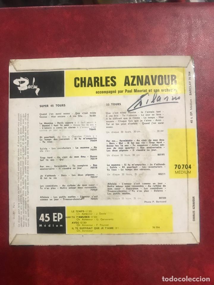 Discos de vinilo: CHARLES AZNAVOUR SINGLE EP - Foto 2 - 195004775