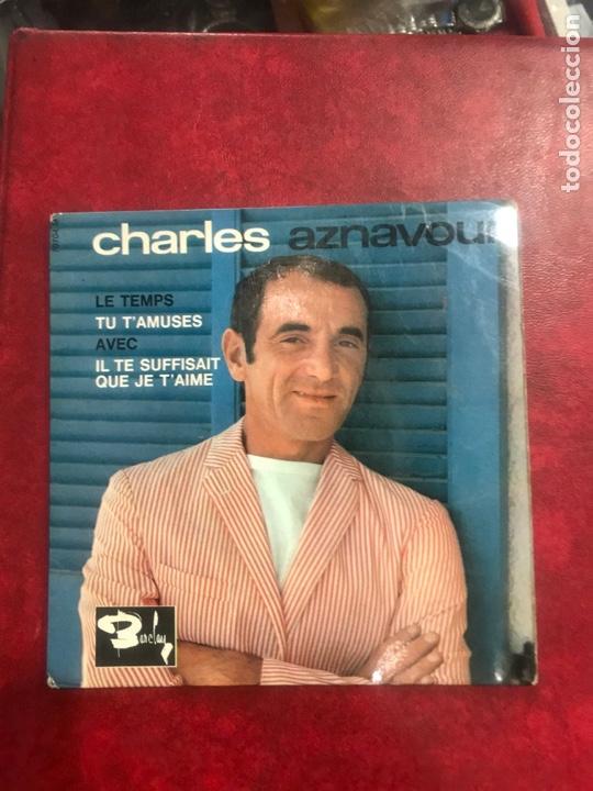 CHARLES AZNAVOUR SINGLE EP (Música - Discos de Vinilo - EPs - Canción Francesa e Italiana)