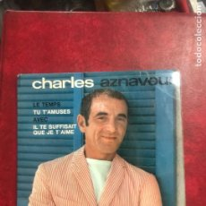 Discos de vinilo: CHARLES AZNAVOUR SINGLE EP. Lote 195004775