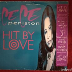 Discos de vinilo: CE CE PENISTON - HIT BY LOVE . MAXI SINGLE . 1994. Lote 195007716