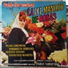 Discos de vinilo: *** LA DEL MANOJO DE ROSAS (ZARZUELA) - LP 1962 (DOBLE PORTADA) - LEER DESCRIPCIÓN. Lote 195012760