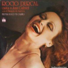 Discos de vinilo: ROCIO DURCAL. CANTA A JUAN GABRIEL. FUE TAN POCO TU CARIÑO. LP ESPAÑA. Lote 195013160