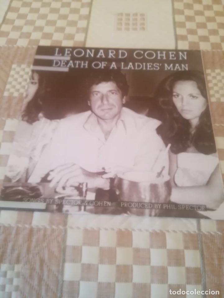 LEONARD COHEN. DEATH OF A LADIES MAN.CBS 32661.REEDICIÓN ESPAÑOLA 1985.IMPECABLE. (Música - Discos - LP Vinilo - Cantautores Extranjeros)