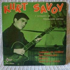 Discos de vinilo: KURT SAVOY – CABECIÑA EN HOMBRO / ERES FASCINANTE / PRINCESA / ROCK DE LA CÁRCEL - EP AÑO 1961 EX. Lote 195017722