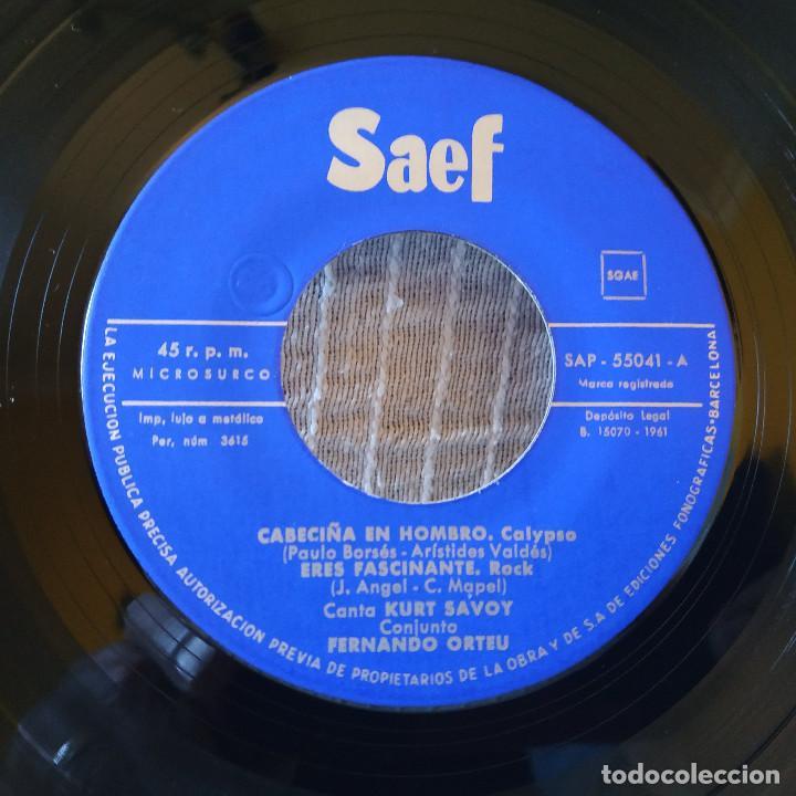 Discos de vinilo: KURT SAVOY ?– Cabeciña En Hombro / Eres Fascinante / Princesa / Rock De la Cárcel - EP AÑO 1961 EX - Foto 3 - 195017722