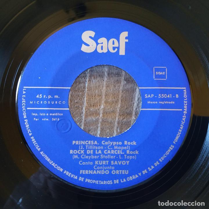 Discos de vinilo: KURT SAVOY ?– Cabeciña En Hombro / Eres Fascinante / Princesa / Rock De la Cárcel - EP AÑO 1961 EX - Foto 4 - 195017722