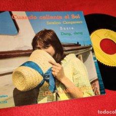 Discos de vinilo: LOS PAJAROS LOCOS CUANDO CALIENTA EL SOL/SERAFINO CAMPANARO/BASTA/DANG DANG EP 1962 IBEROFON. Lote 195019443
