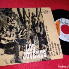 Discos de vinilo: LOS JOVENES ELLA TE QUIERE/TU HECHIZO/VERDE VERDE/HAY TANTAS CHICAS EN EL MUNDO EP 1964 MARBELLA. Lote 195020170