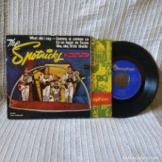 Discos de vinilo: THE SPOTNICKS - WHAT DID I SAY + 3 - RARO EP EDICIÓN ESPAÑOLA SELLO IBEROFÓN DEL AÑO 1963 VG+ / VG+. Lote 195021976