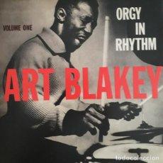 Discos de vinilo: ART BLAKEY ORGY IN RHYTHM VOLUME ONE LP . JAZZ ARTHUR TAYLOR JO JONES SAB. Lote 195023500