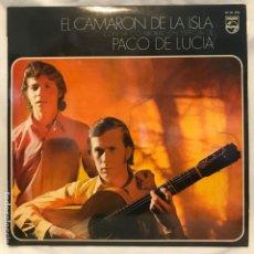Discos de vinilo: EL CAMARÓN DE LA ISLA CON LA COLABORACIÓN ESPECIAL DE PACO DE LUCÍA 1970. Lote 195024176