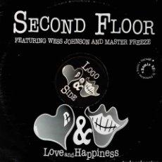 Discos de vinilo: SECOND FLOOR.WESS JOHNSON AND MASTER FREEZE. MAXI ITALIA. Lote 195024515