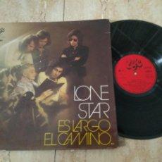 Discos de vinilo: LONE STAR LP LONE STAR ES LARGO EL CAMINO 1972 CARPETA DOBLE PROMOCIONAL .LABEL ROJO.RARO!!!. Lote 195026905