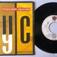 Discos de vinilo: FINE YOUNG CANNIBALS / SUSPICIOUS MINDS / SINGLE 7 INCH. Lote 195027371