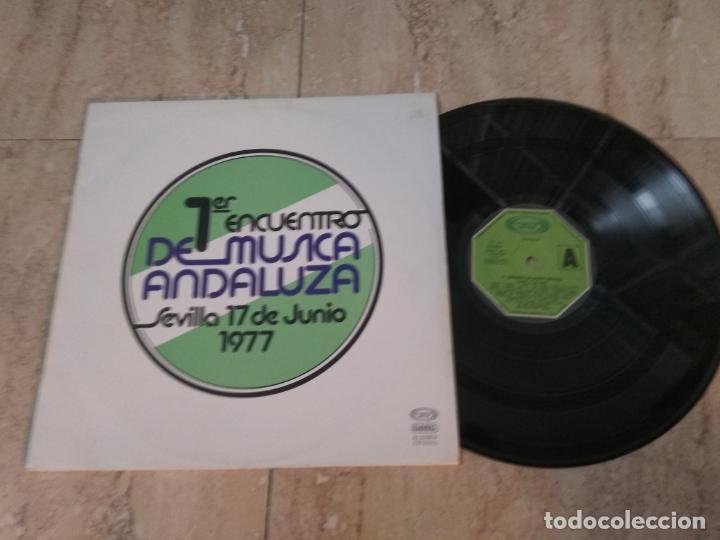 LP- PRIMER ENCUENTRO DE MUSICA ANDALUZA-SEVILLA 17 DE JUNIO 1977 -TRIANA.GUALBERTO,PROMOCIONAL (Música - Discos - LP Vinilo - Grupos Españoles de los 70 y 80)