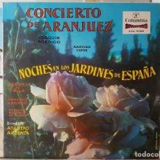Discos de vinilo: ** CONCIERTO DE ARANJUEZ (JOAQUIN RODRIGO) NARCISO YEPES - LP 1958 - LEER DESCRIPCIÓN. Lote 195029257