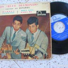 Discos de vinilo: DISCO EP LOS BLUE DIAMONDS CANTAN EN ESPAÑOL AÑO 1961. Lote 195029282