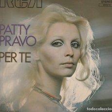 Discos de vinilo: 45 GIRI PATTY PRAVO PER TE UNA CONCHIGLIA FRANCE RCA VICTOR COVER SCRITTA A PENNARELLO RETRO . Lote 195030370