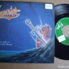 Discos de vinilo: LANCELOT SG 7'' SOLO TU SOLO YO PROMOCIONAL HEAVY VIRGIN 1989 EX. Lote 195032811