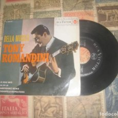Discos de vinilo: TONY ROMANDINI: !!-BELLA MUSICA- EP (RCA 1963-) OG ESPAÑA. Lote 195038660
