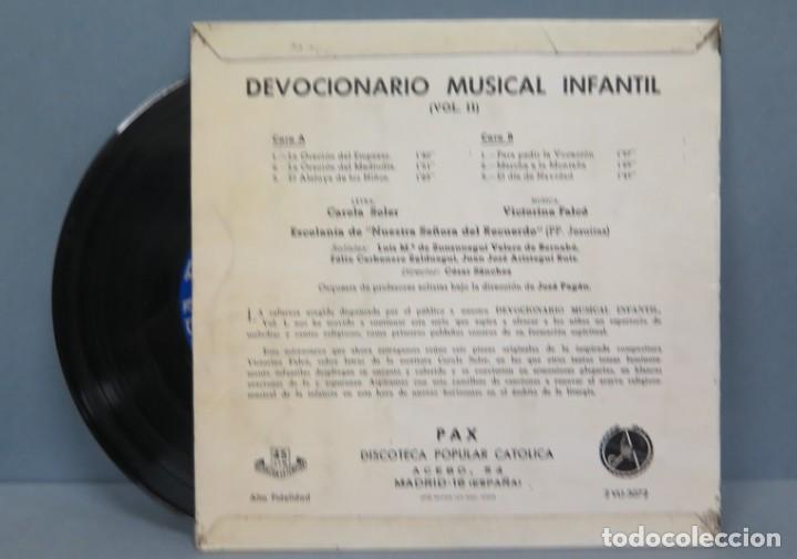 Discos de vinilo: DEVOCIONARIO MUSICAL INFANTIL VOL.II. ESCOLANÍA - Foto 2 - 195040231
