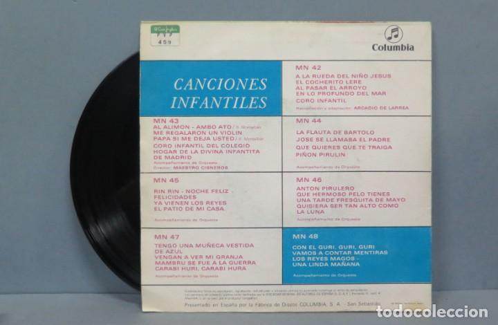 Discos de vinilo: SINGLE. CANCIONES INFANTILES. Nº 7. COLUMBIA - Foto 2 - 195040317