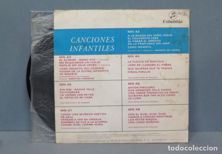 Discos de vinilo: SINGLE. CANCIONES INFANTILES. Nº 1. COLUMBIA - Foto 2 - 195040421