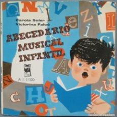 Discos de vinilo: ABECEDARIO MUSICAL INFANTIL. CAROLA SOLER. VICTORINA FALCÓ. Lote 195040696