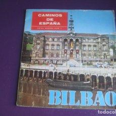 Discos de vinilo: CAMINOS DE ESPAÑA - EXTRA SONORO Nº1 - BILBAO - FLEXI DISC 6 TEMAS + GUIA TURISMO - FOLK - FOTOS. Lote 195041405