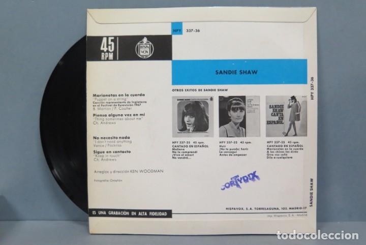 Discos de vinilo: EP. SANDIE SHAW. EUROVISIÓN 67 - Foto 2 - 195043436