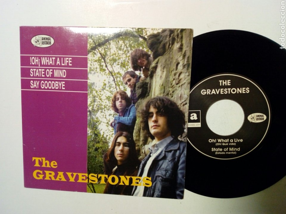 EP: THE GRAVESTONES - OH! WHAT A LIFE (ANIMAL RECORDS, 1990) - GARAGE MOD ROCK BEAT POP FUZZ - (Música - Discos de Vinilo - EPs - Grupos Españoles de los 90 a la actualidad)