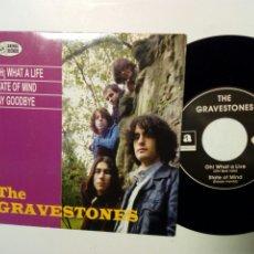 Discos de vinilo: EP: THE GRAVESTONES - OH! WHAT A LIFE (ANIMAL RECORDS, 1990) - GARAGE MOD ROCK BEAT FUZZ -. Lote 195035317