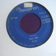 Discos de vinilo: PERET SG DISCOPHON SINFONOLA 1965 - VOY VOY/ BELEN BELEN - RUMBA CATALANA - RUMBAS POP. Lote 195044527